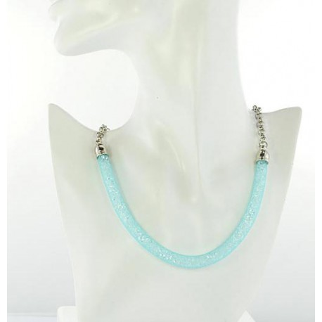 Top Fashion Necklace chain and Resille L48cm 64524