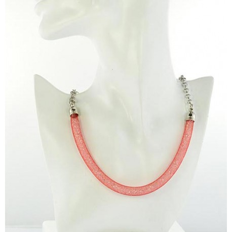 Top Fashion Necklace chain and Resille L48cm 64526