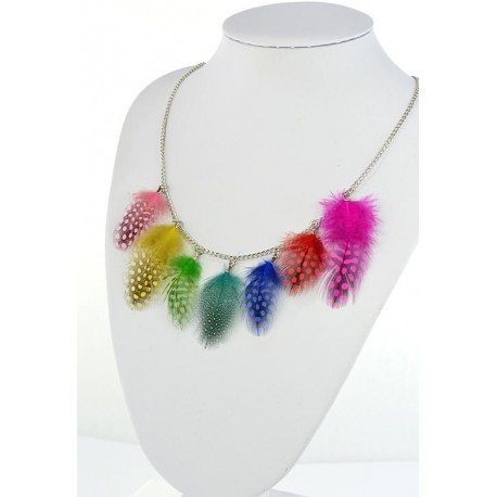 Collection Fashion Feather Necklace on chain L60cm 64703