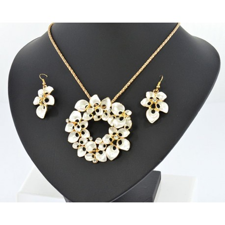 Ornament Collection Chic White and Strass L50cm 65036