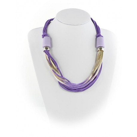 Summer Fashion Leather Necklace appearance on Channels L55cm 65613