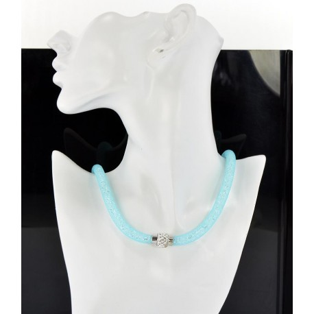 Necklace Fashion Rhinestone Clasp magnet and Pierre L47cm 6566