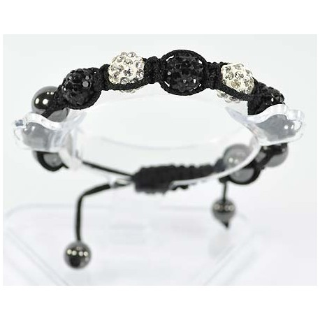 5 Adjustable Bracelet Rhinestone Balls Pierre 54685