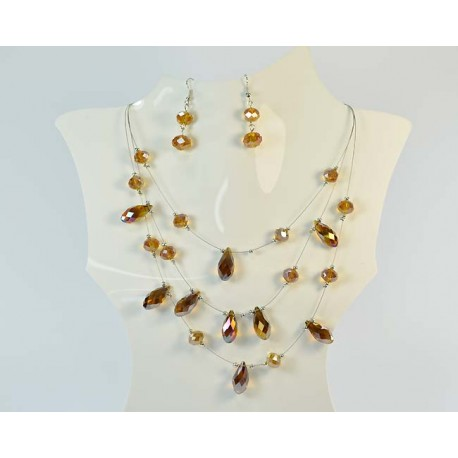 Suspension finery 3 Rank Beads and Jewelry 59024