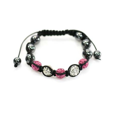 5 Adjustable Bracelet Rhinestone Balls Pierre 59060
