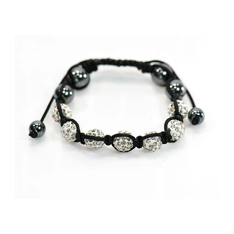 7 Adjustable Bracelet Rhinestone Balls Pierre 59067