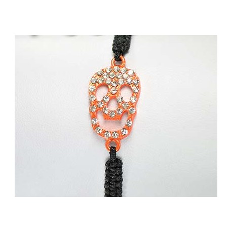 Adjustable Bracelet Tete de Mort Strass 59260