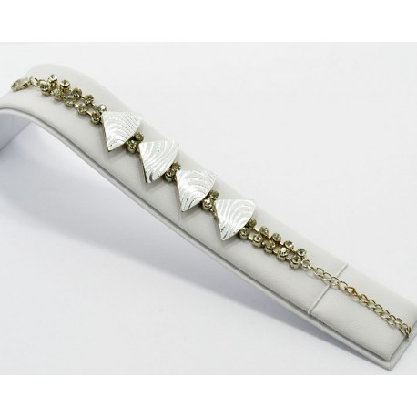 Bracelet métal argenté Strass Collection Maia L20cm 61229