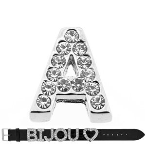 Initial Full Rhinestone Bracelet 20mm to 18mm name Letter A 69201