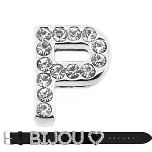 Initial Full Rhinestone Bracelet 20mm to 18mm name Letter P 69216