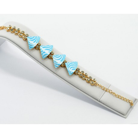 Bracelet gold metal Strass Collection Maia L20cm 61250