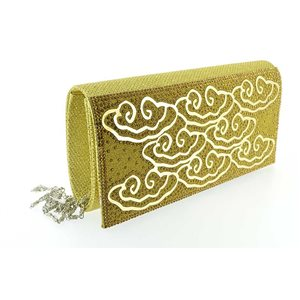 luxury satin pouch for evening wedding 20 * 10.5cm ornaments 70742