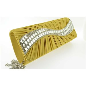 Pochette de Soirée Chic en Satin 25*10.5cm Ornements Full Strass 70759