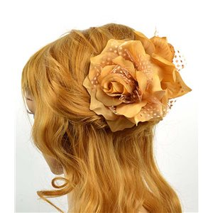 Hair clip crab 8cm Fashion Peas Rose and Tulle Flower 12cm 70635