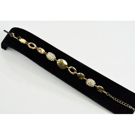 Chic Rhinestone bracelet set with gold metal on L21cm 62947