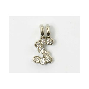 Initial Pendant full rhinestone 8mm name necklace letter s 69841