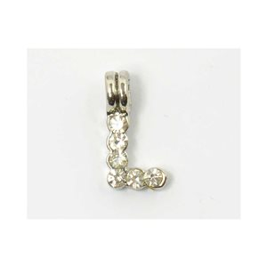 Initial Pendant full rhinestone 8mm name necklace letter l 69834
