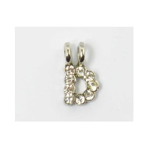 Initial Pendant full rhinestone 8mm name necklace letter 69826